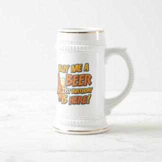 21st Birthday Beer Beer Stein