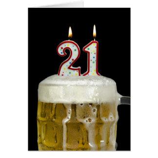 21st Birthday Beer Greeting Card