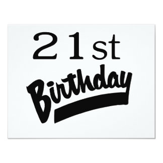 21st Birthday Black Personalized Announcements