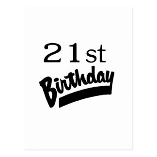 21st Birthday Black Postcards
