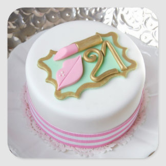 21st Birthday Cake Stickers