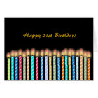 21st Birthday Candles Card Customise