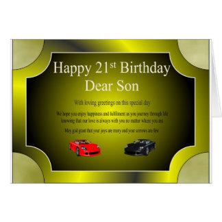 21st Birthday Card (Son)