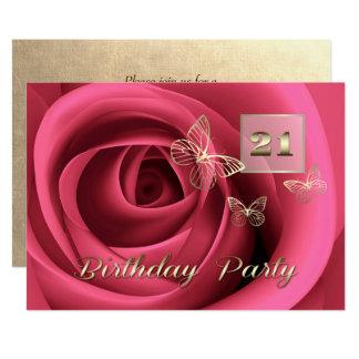21st Birthday Celebration Custom Invitations