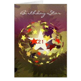 21st Birthday Dog Star add Photograph Cards