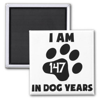 21st Birthday Dog Years 2 Inch Square Magnet