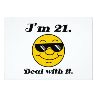 21st Birthday Gag Gift 13 Cm X 18 Cm Invitation Card