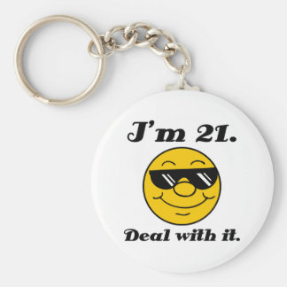 21st Birthday Gag Gift Key Chain