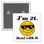 21st Birthday Gag Gift Pin