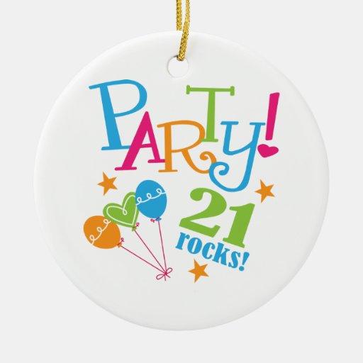 21st Birthday Gift Ideas Ornament