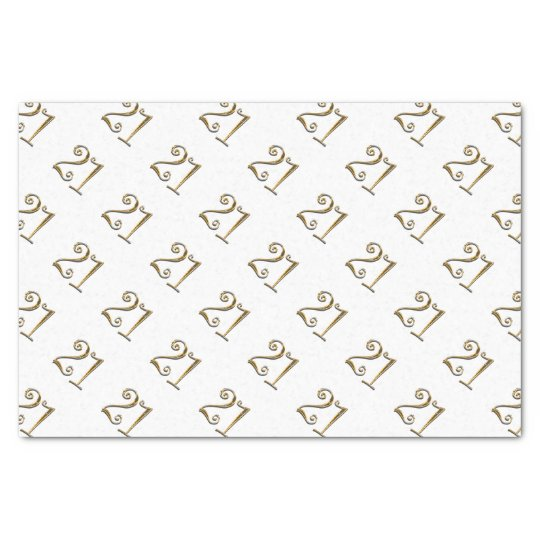 21st birthday gold white elegant tissue paper