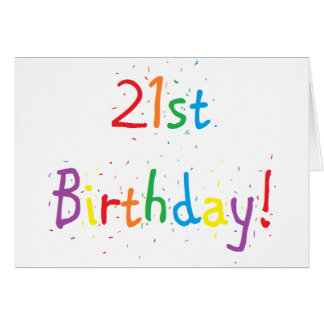 """21st Birthday"" Greeting Card"