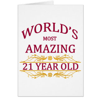 21st. Birthday Greeting Card