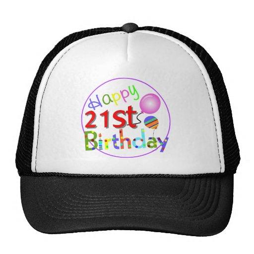 21st birthday greetings hats