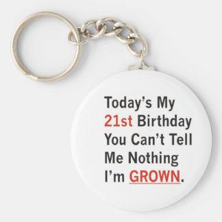 21st Birthday I'm Grown Key Ring