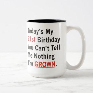 21st Birthday I'm Grown Two-Tone Mug