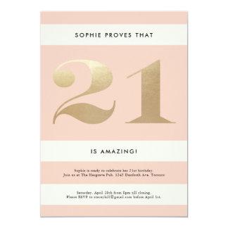 21st Birthday Invitation // Blush