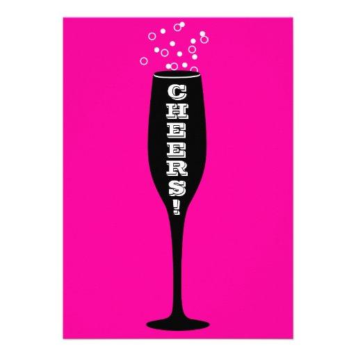 21st Birthday Invitation - Champagne Cheers!