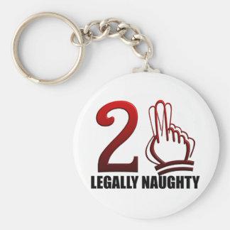 21st Birthday Key Ring