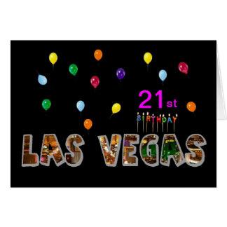 21st Birthday Las Vegas Card