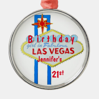21st Birthday Las Vegas Pendant Christmas Ornament