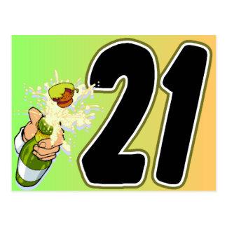 21st Birthday merchandise Post Cards