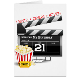 21st Birthday Movie Party Card