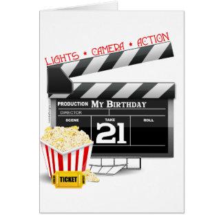 21st Birthday Movie Party Cards
