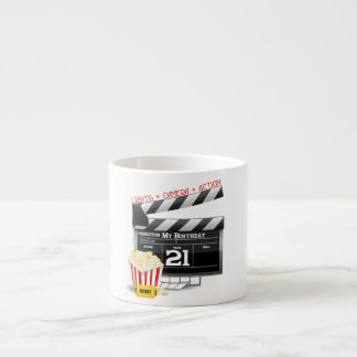 21st Birthday Movie Party Espresso Cup