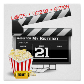 21st Birthday Movie Party Poster