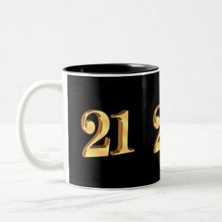 21st Birthday Mug 3D look number