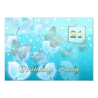 "21st Birthday Party Custom Invitations 5"" X 7"" Invitation Card"