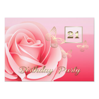 21st Birthday Party Custom Invitations