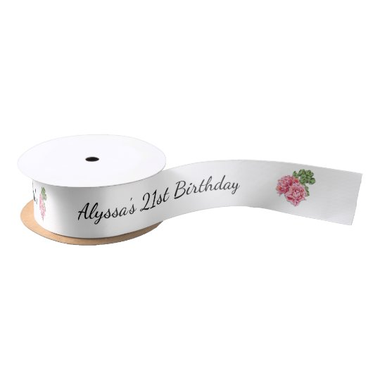 21st Birthday Party Favour Ribbon Satin Ribbon