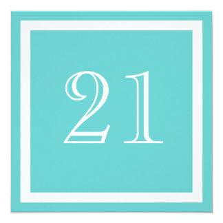 21st Birthday Party Invitation - Aqua