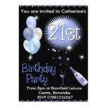 "21st Birthday Party Invitation - Cocktail Glass 5"" X 7"" Invitation Card"