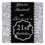 21st Birthday Party Invitation DIAMONDS & SPARKLES