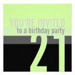 21st Birthday Party Invitations {Mint Green}