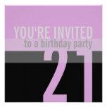 21st Birthday Party Invitations {Purple}