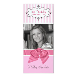 21st Birthday Party Invitations with Photo