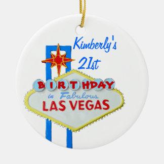 21st Birthday Party Las Vegas Christmas Ornament