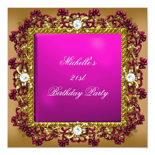 21st Birthday Party Pink Gold Diamond Jewel 3