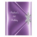 21st Birthday Party Purple Mauve Diamond Jewel
