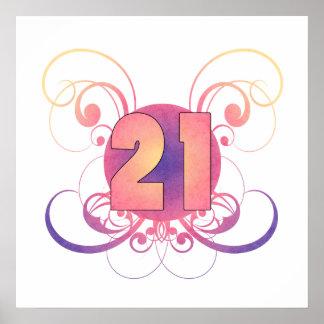 21st Birthday (Pastel) Poster