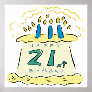 21st Birthday Poster