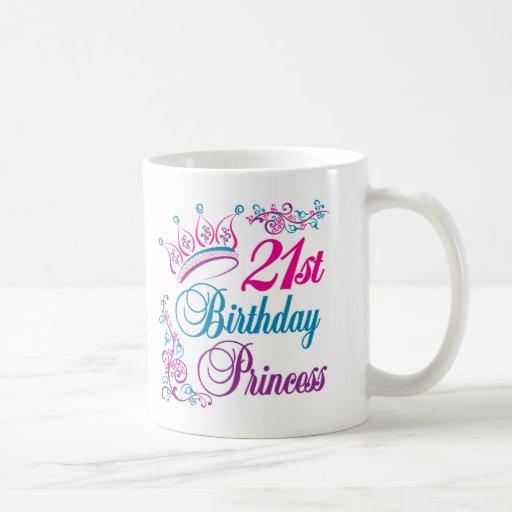 21st Birthday Princess Coffee Mugs