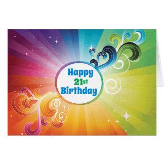 21st Birthday Religious Card Rainbow Blessings