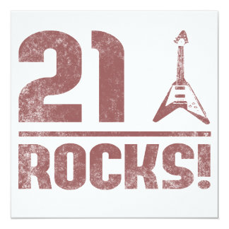 21st Birthday Rocks Card