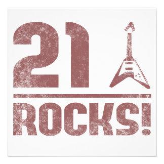 21st Birthday Rocks Invitations