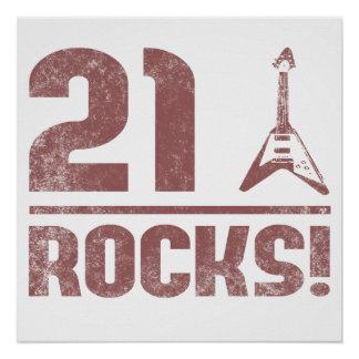 21st Birthday Rocks Poster